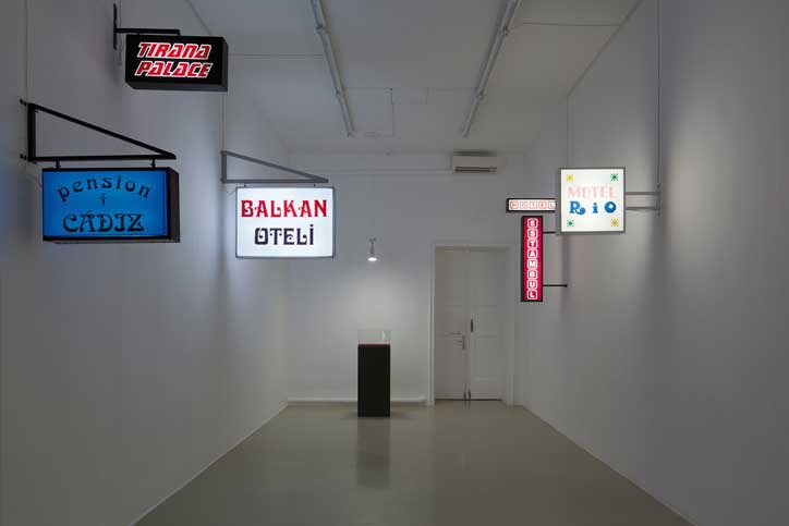 exhibition view Kunstverein Hannover »Signs Taken in Wonder – Searching for Contemporary Art about Istanbul«, 2013