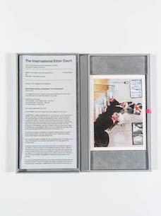Catalogue Helen Knowles »The Trial of Superdebthunterbot Artist Book«, 2016 (Hardbound edition)
